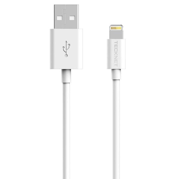 Кабел TeckNet P201, Lightning to USB, за iPhone, iPad, iPod, 2m., бял image
