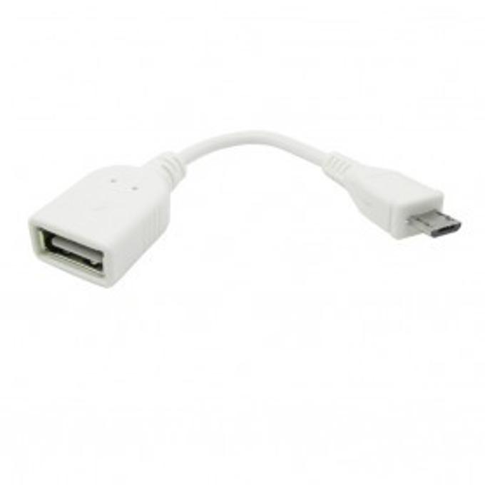 Кабел Vcom от USB micro B(5-pin)(м) към USB A(ж), OTG, 0.2m, бял image