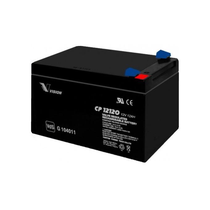 Акумулаторна батерия Vision CP12120F1, 12V, 12 Ah, AGM image