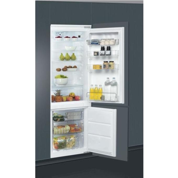 Хладилник с фризер Whirlpool ART 872/A+/NF, клас A+, 264 л. общ обем, за вграждане, 297 kWh/годишно, NoFrost, Multi-Flow система , инокс image