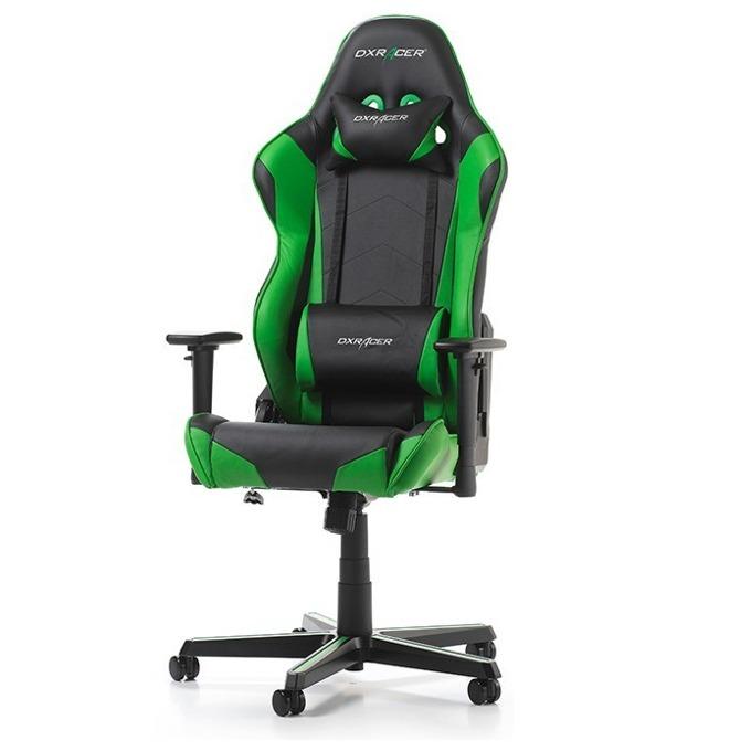 Геймърски стол DXRacer Racing OH/RZ0/NE, черен/зелен image