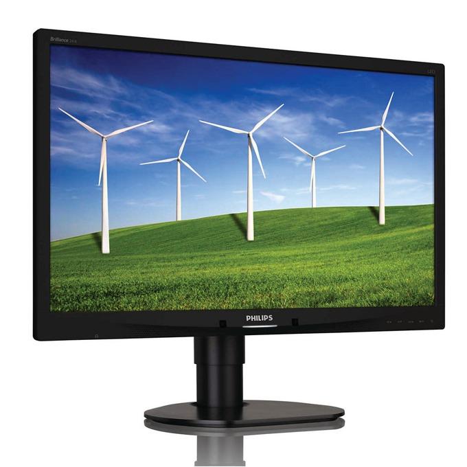 """Монитор Philips 241B4LPYCB, 24"""" (60.96cm), TN панел, Full HD, 5ms, 20 000 000:1, 250 cd/m2, DVI, DisplayPort image"""