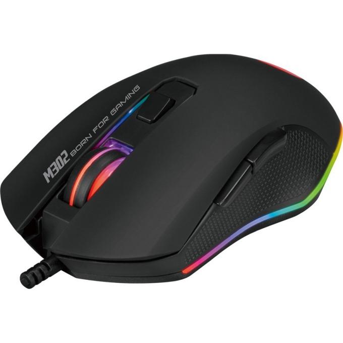 Мишка Marvo M302, оптична (3200dpi), 6 бутона, USB, гейминг, черна image