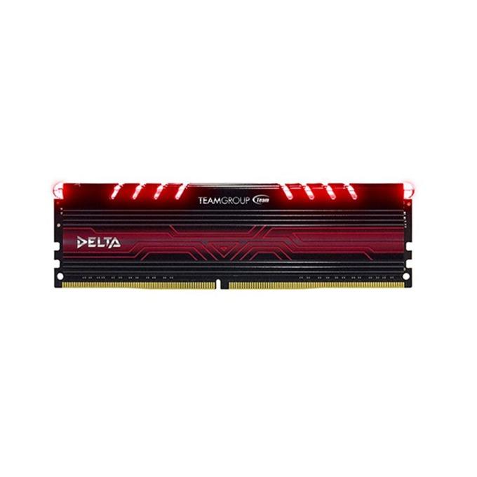 16GB DDR4 2400 MHz, Team Group Delta Red, TDTRD416G2400HC15B01, 1.2V, червена LED подсветка image