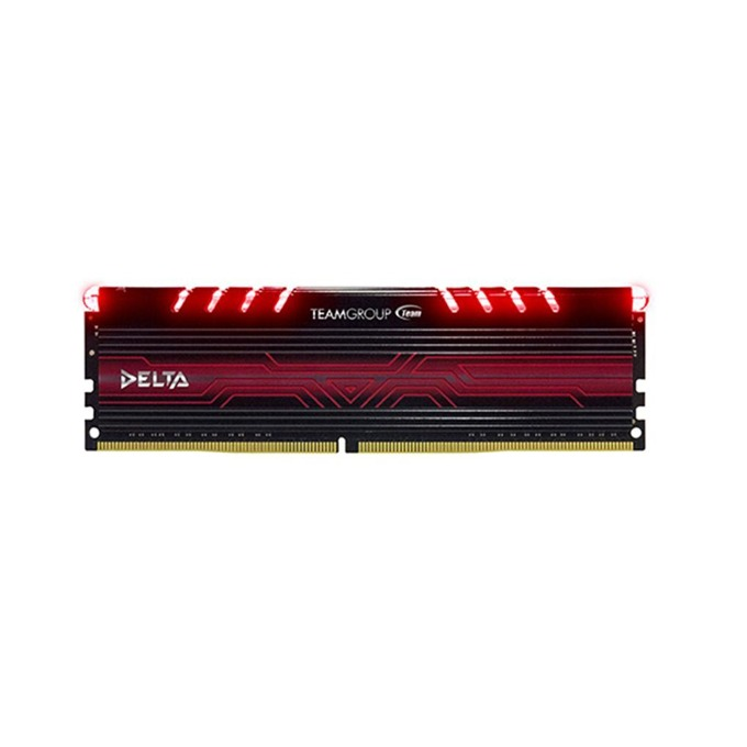 16GB DDR4 2400 MHz, Team Group Delta Red, TDTRD416G2400HC15B01, 1.2V, червена LED подсветка image