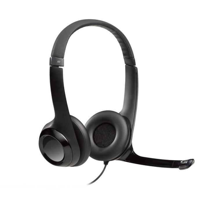Слушалки Logitech H390, USB, черни image