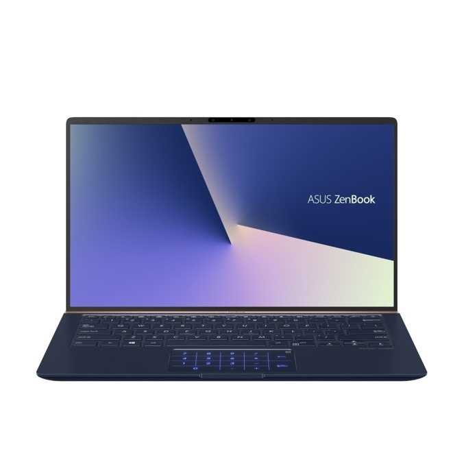 "Лаптоп Asus UX433FN-A5078R (90NB0JQ1-M04400)(син), четириядрен Whiskey Lake Intel Core i7-8565U 1.8/4.6 GHz, 14.0"" (35.56 cm) Full HD Anti-Glare Display & GF MX150 2GB, (HDMI), 16GB, 256GB SSD, 1x USB 3.1, Windows 10 Pro, 1.09 kg image"