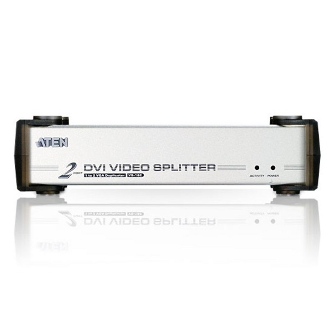 "ATEN VS162 Video Splitter, 2xDVI & 2x3.5"" stereo jack image"