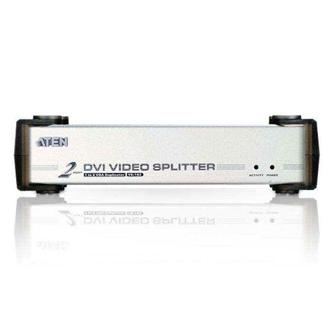 """ATEN VS162 Video Splitter, 2xDVI & 2x3.5"""" stereo jack image"""