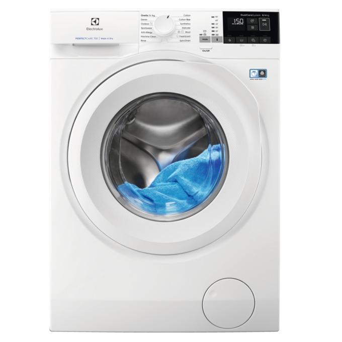 Пералня със сушилня Electrolux EW7W4684W, клас А, 8 кг. капацитет пералня/4 кг. капацитет сушилня, 1600 оборота в минута, свободностояща, 60 cm. ширина, отложен старт, бяла image