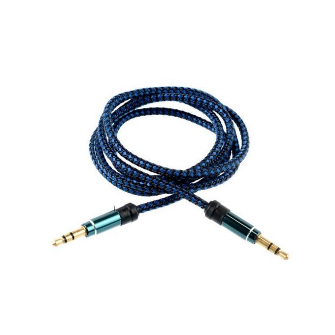Аудио кабел Tellur TLL311041, от 3.5mm жак(м) към 3.5mm жак(м), 1m, син image