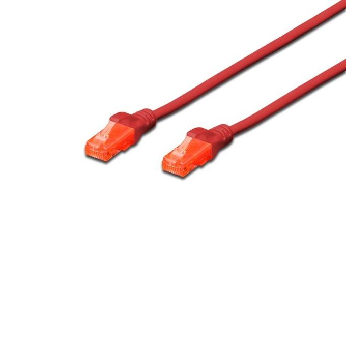 Patch cable Assmann, UTP, Cat.6, 0,25m, червен image