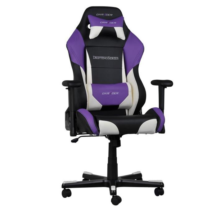 Геймърски стол DXRacer Drifting OH/DF61/NWV, черен/лилав/бял image