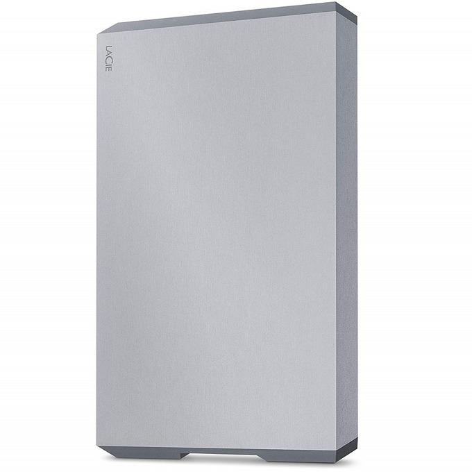 """Твърд диск 4TB, LaCie Mobile Portable Space Gray STHG4000402 (сив), външен, 2.5"""" (6.35 cm), USB Type C image"""
