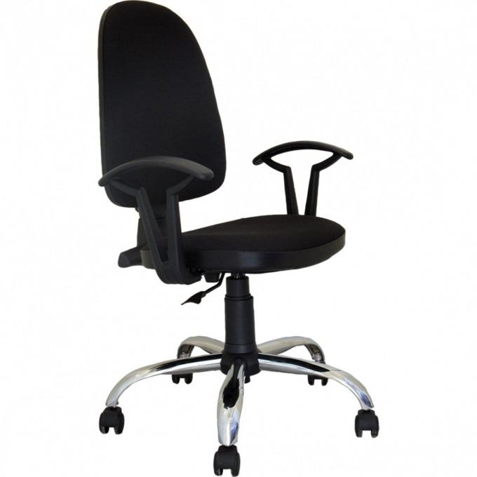 Работен стол Nowy Styl Prestige Steel, хромирани кръстачки, антистатична дамаска,  image