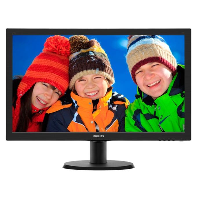 """Монитор 23.6"""" (59.94 cm) Philips 243V5LHAB, FULL HD LED, 1ms, 10 000 000:1, 250cd/m2, HDMI & DVI image"""