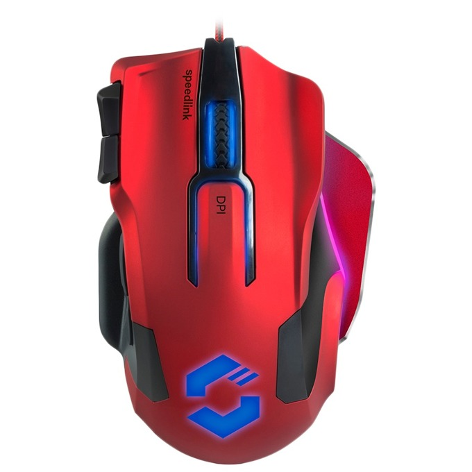 Мишка Speedlink Omnivi Core, оптична 12000 dpi, USB, подсветка, геймърска, 10 бутона, червена image