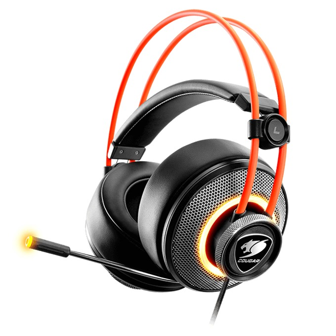 Слушалки Cougar Gaming Immersa Pro, микрофон, геймърски, черни image