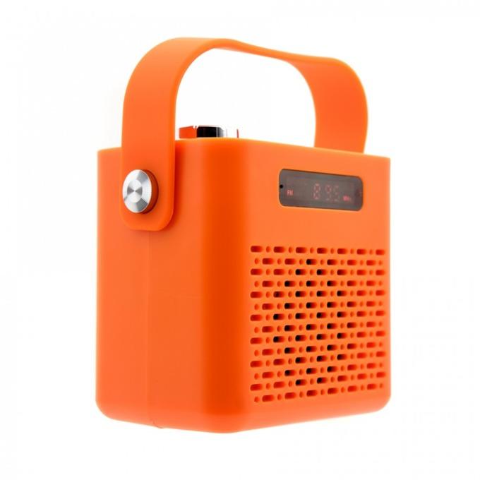 Тонколона Tellur Blues TLL161021, 1.0, Bluetooth, microUSB Type B, до 6 часа време за работа, до 10м обхват, microSD слот, дисплей, оранжева image