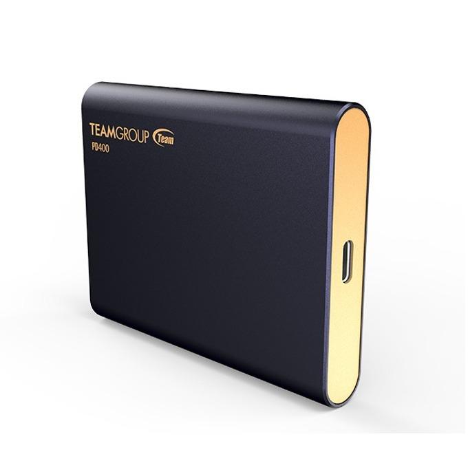 Памет SSD 480GB Team Group Elite PD400, външен, USB 3.1 Type-C, скорост на четене 430MB/s, скорост на запис 420MB/s, синя image