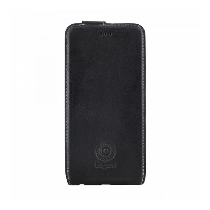 Калъф за Apple iPhone 6, отваряем, естествена кожа, Bugatti Amsterdam, черен image