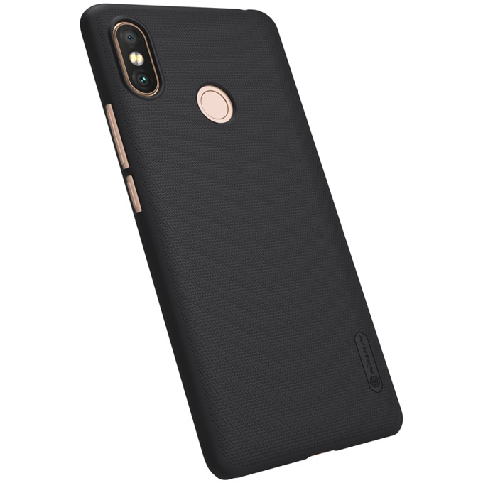 Калъф за Xiaomi Mi Max 3, твърд гръб, силиконов, Nillkin, черен image