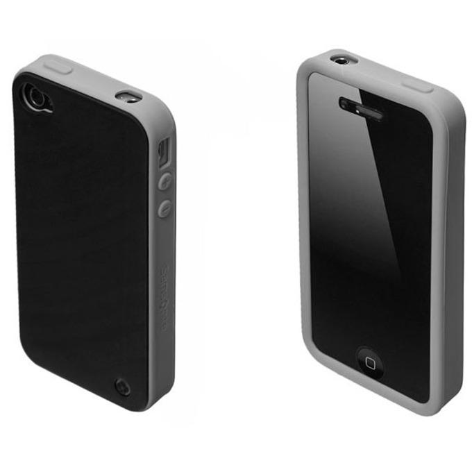 Страничен протектор с гръб Samsonite Bi-tone iPhone 4S, сив/черен image