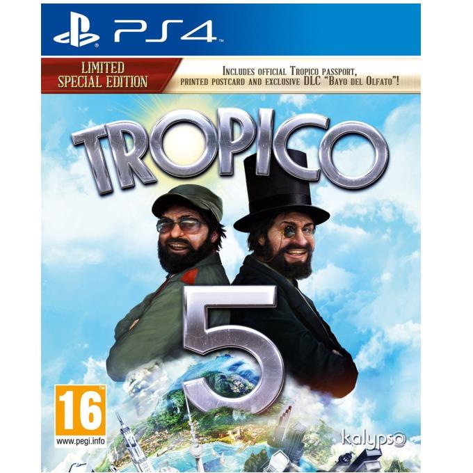 Игра за конзола Tropico 5 Limited Special Edition, Bayo del Olfato DLC , пощенска картичка, официален Tropico паспорт, за PS4 image