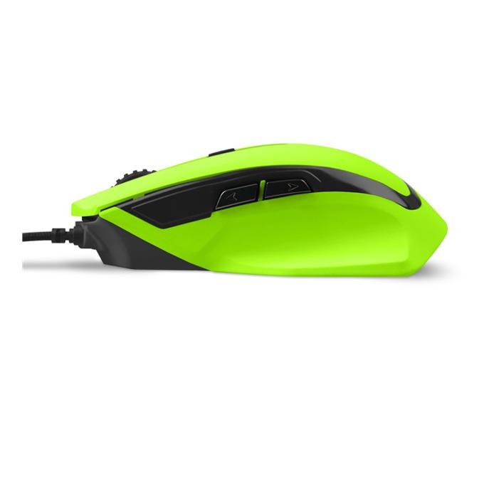 Мишка Sharkoon SHARK Force, оптична (1600 dpi), 6 бутона, подсветка, USB, зелена image