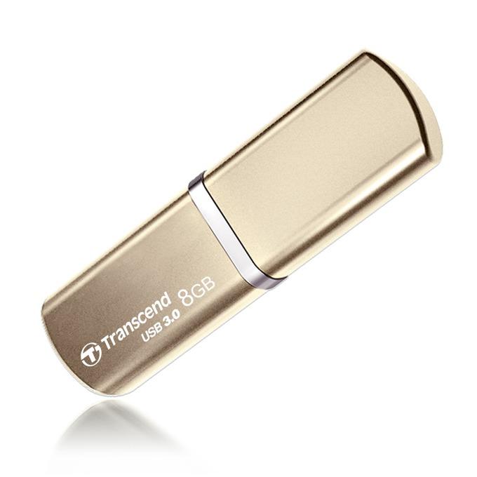 8GB USB Flash Drive, Transcend JetFlash 820, USB 3.0, златиста image