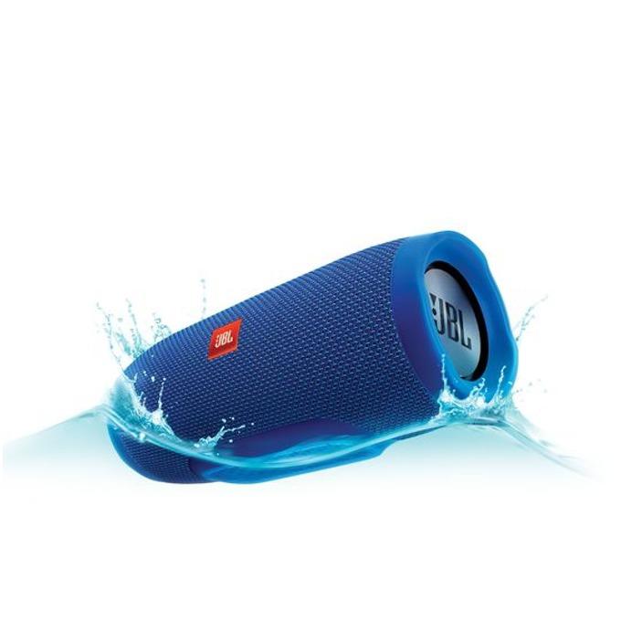 Тонколона JBL Charge 3, 2.0, 20W RMS, безжична, 3.5mm jack/Bluetooth, син, микрофон, IPX7, до 20 часа работа image