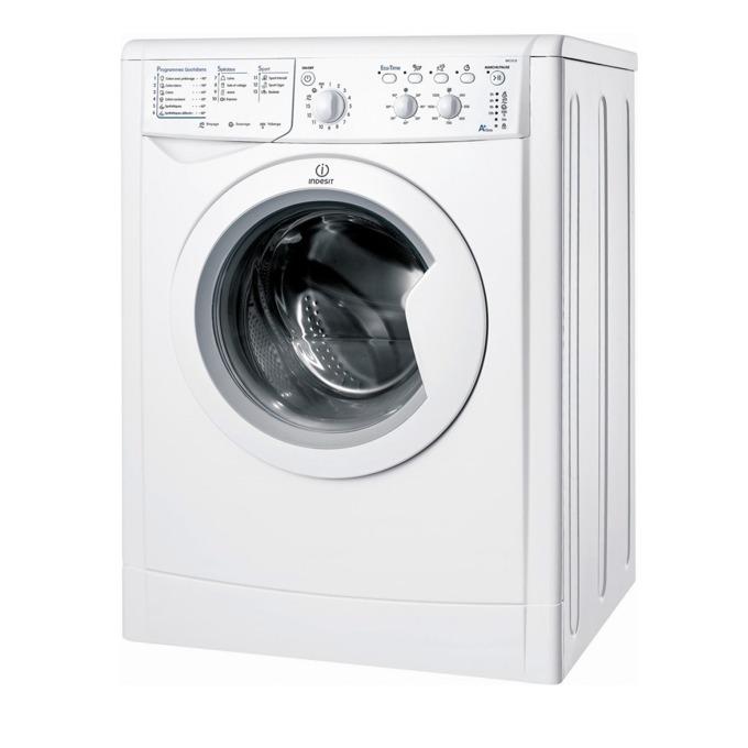 Перална машина Indesit IWC 60851 C ECO EU, клас А+, 6 кг. капацитет, 800 оборота в минута, свободностояща, 60 cm. ширина, бяла  image