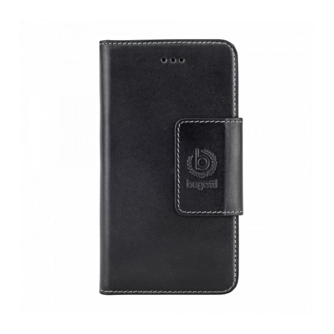 Калъф за Apple iPhone 6, отваряем, естествена кожа, Bugatti BookCover Amsterdam, черен image