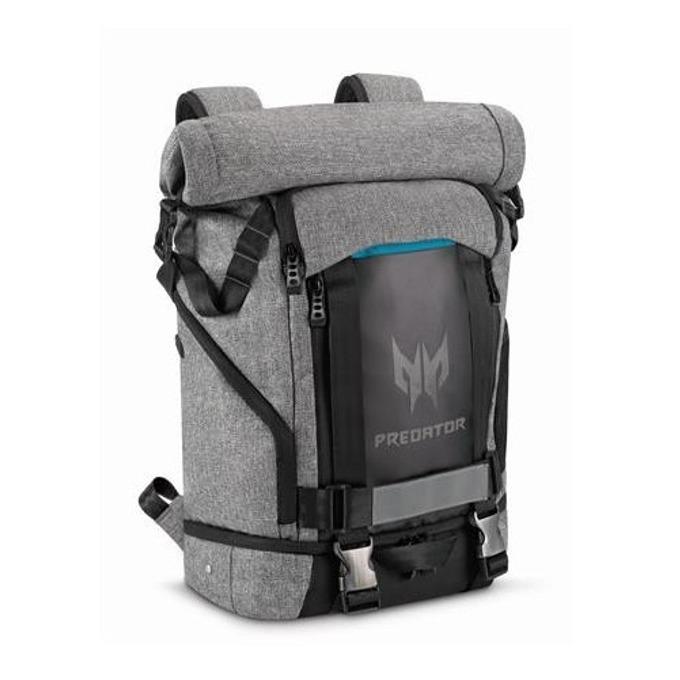 """Раница за лаптоп Acer Predator Rolltop Backpack, 15.6"""" (39.62 cm), водоустойчива, сива image"""