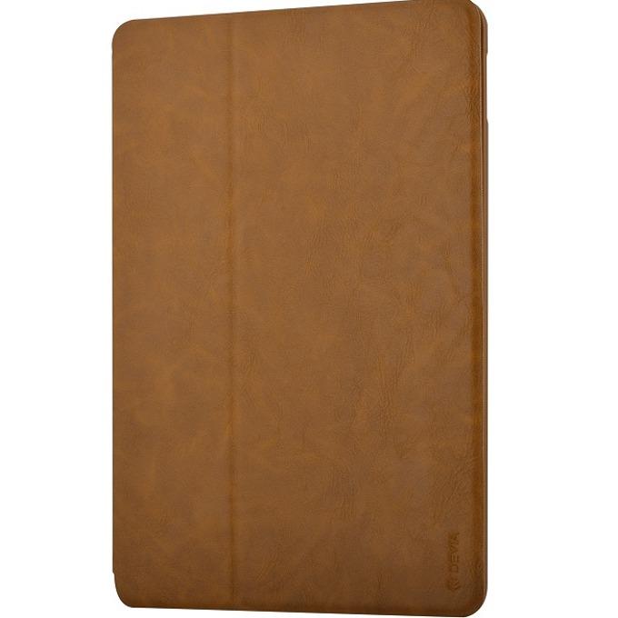 "Калъф /тип бележник/ Devia Elite за iPad Pro, до 9.7""(24.6cm), кожен, поставка, кафяв image"