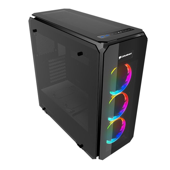 Кутия Cougar Puritas RGB, ATX, Micro-ATX, Mini-ITX, 2x USB 3.0, черна, без захранване image