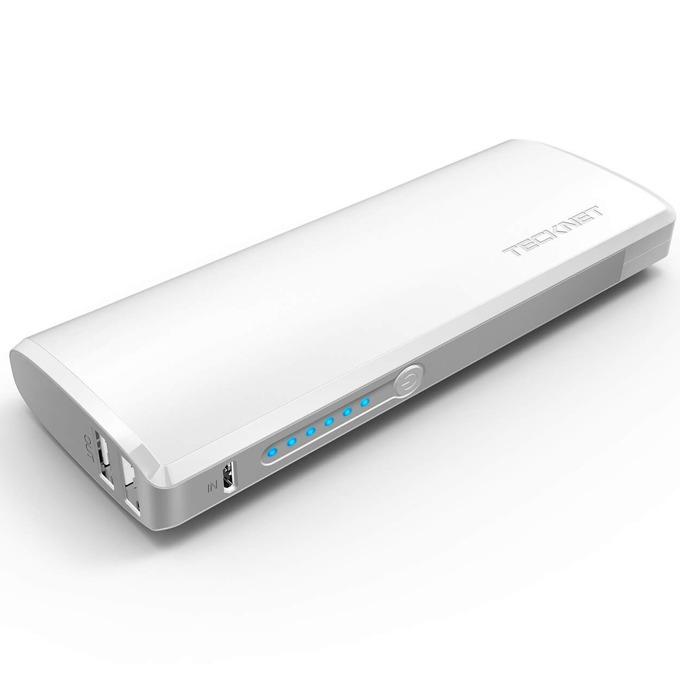 Външна батерия/power bank TeckNet iEP1200 PowerWave W2, 13000mAh, бяла, 2xUSB за смартфони и таблети image