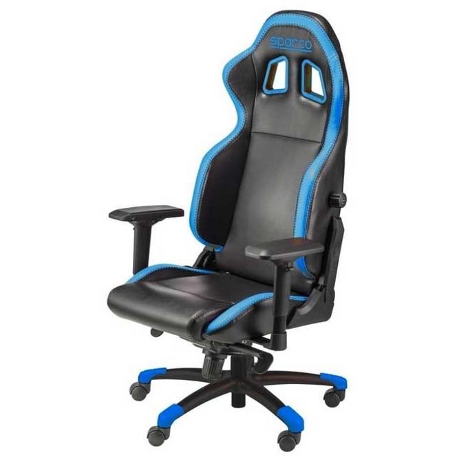 Геймърски стол Sparco GRIP Blue, черно/син image