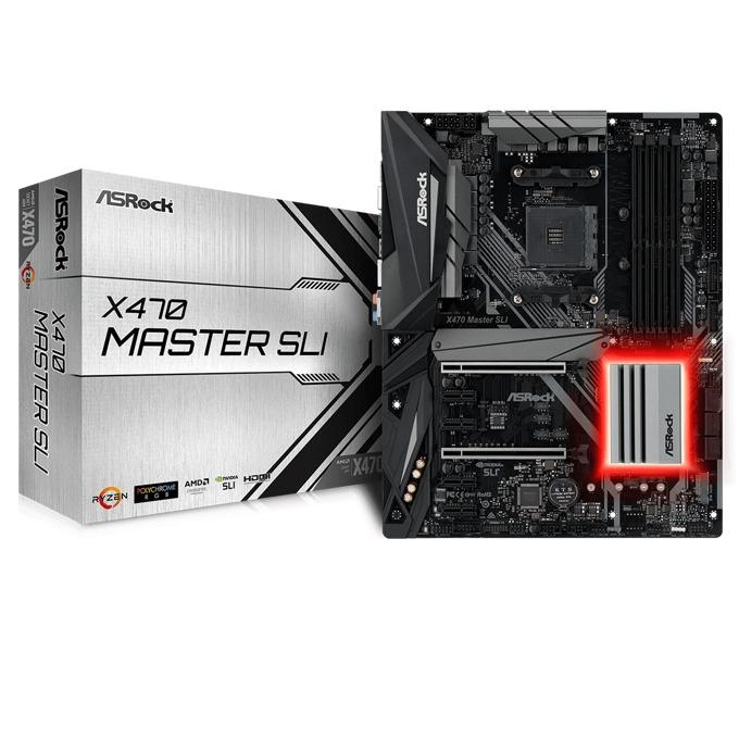 Дънна платка ASRock X470 Master SLI, X470, AM4, DDR4, PCI-E(HDMI)(CFX&SLi), 6x SATA3 6.0 Gb/s, 2x M.2 Socket, 1 x USB 3.1 Gen2 Type-C, 1 x USB 3.1 Gen2 Type-A, ATX image