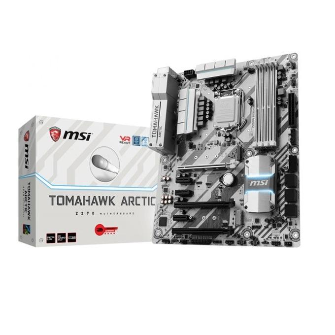 Дънна платка MSI Z270 TOMAHAWK ARCTIC, Z270, LGA1151, DDR4, PCI-E(HDMI&DVI)(CF), 6x SATA 6Gb/s, 1x USB 3.1 Type C Gen2, 4x USB 3.1 Gen2, 2x M.2 слота, ATX image