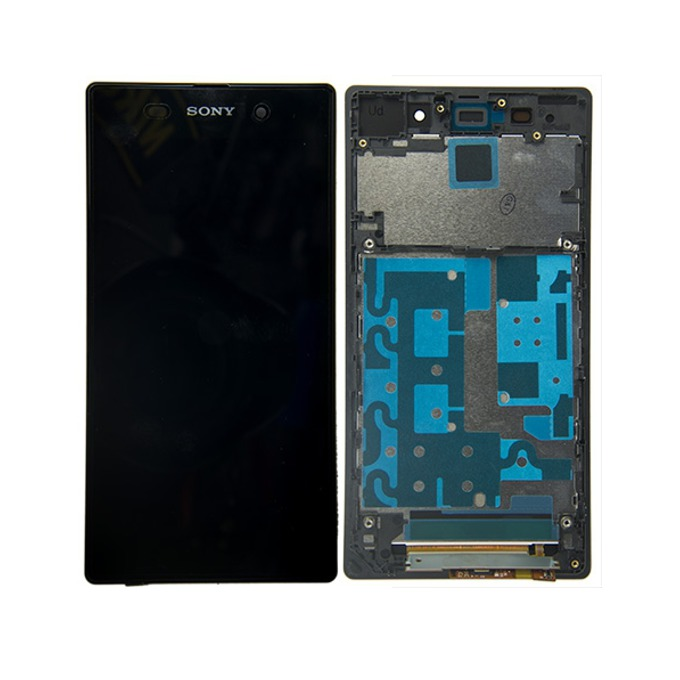 Дисплей за Sony Xperia Z1 C6903, LCD with touch and frame, черен image