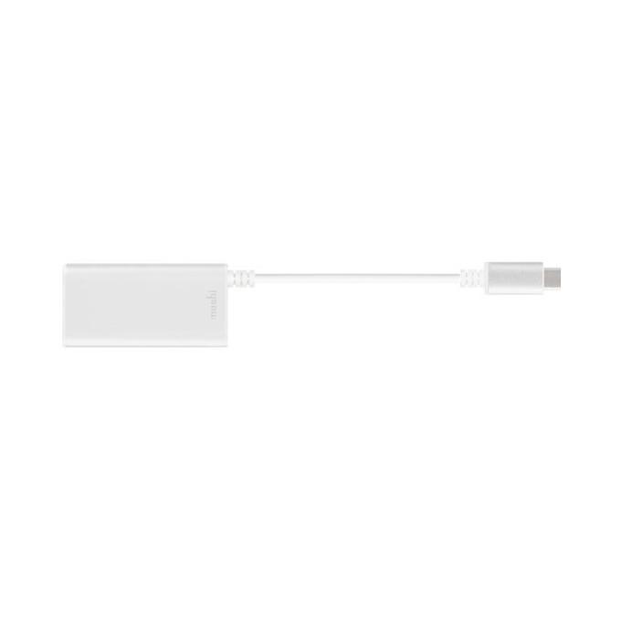 Мрежови адаптер Moshi 99MO084203, от USB 3.1 Type-C(м) към RJ-45(ж), 10/100/1000 Mbps, бял image
