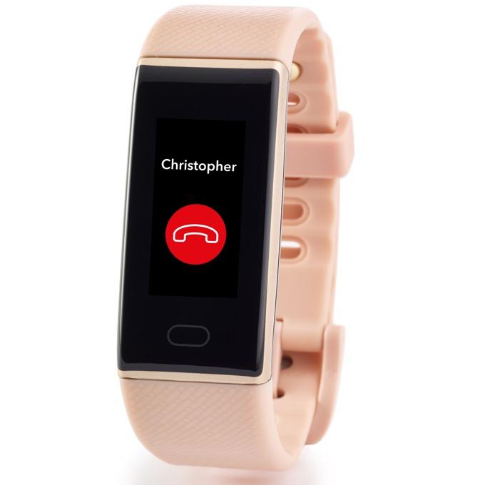 Смарт гривна MyKronoz ZeTrack Pink, Bluetooth 4.0, 90mAh батерия, водоустойчив IP67, Android, iOS, Windows, розова image