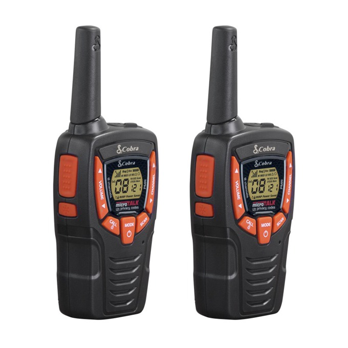 Walkie-Talkie Cobra AM 645, PMR, 8 канала, до 8 км. обхват, 5 тона на звънене, черен image