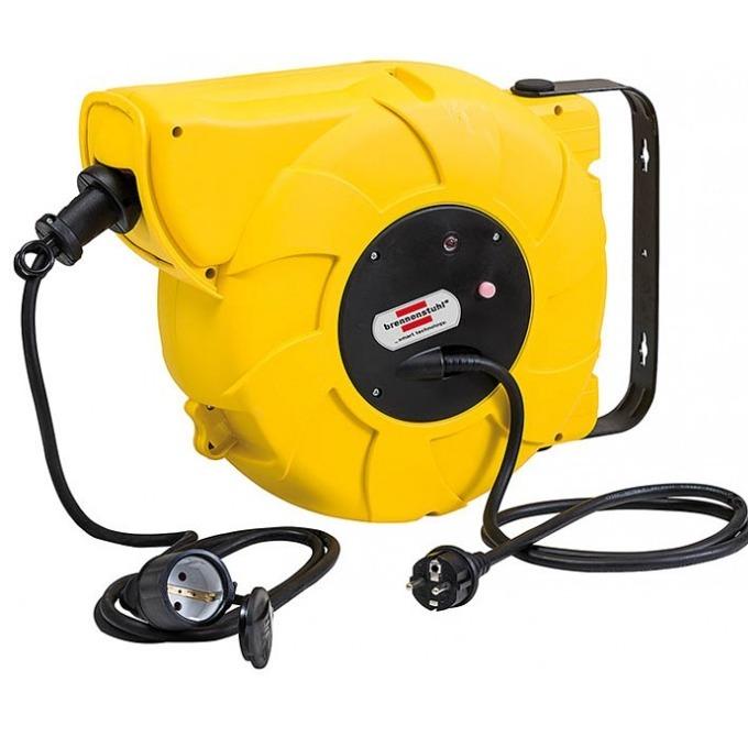 Удължител на макара Brennenstuhl Automatic 18m 1241000300, IP44 жълт image