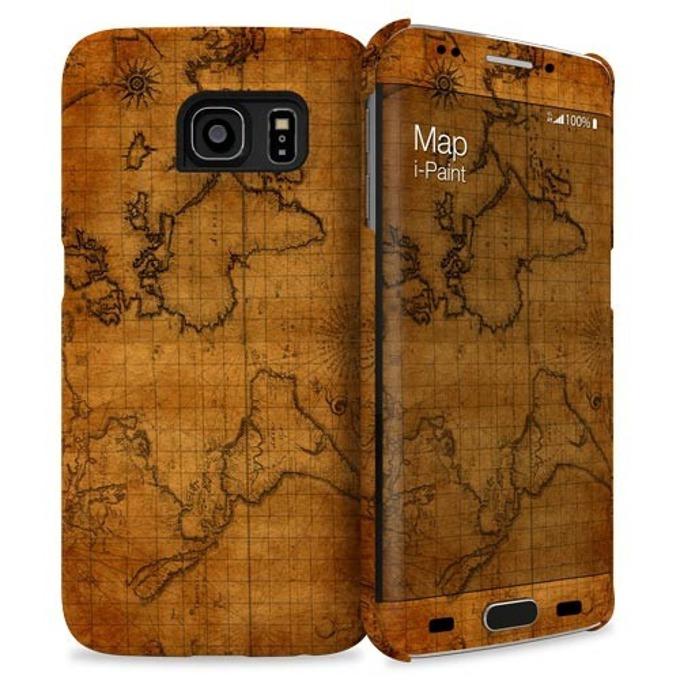 Протектор iPaint Map HC Case за Galaxy S6 Edge image