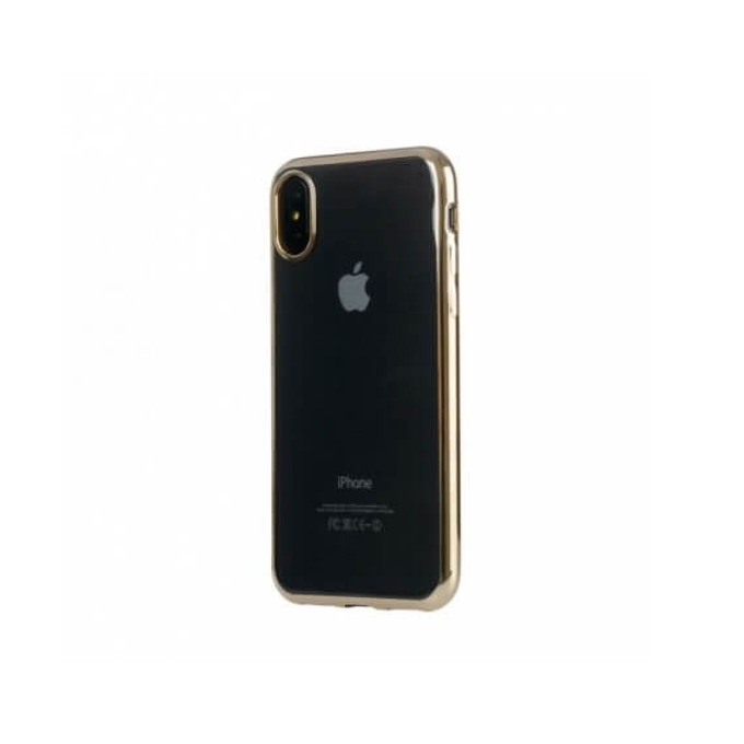 Kалъф за Apple iPhone X/XS, термополиуретанов, Tucano Flex Case, златист-прозрачен image