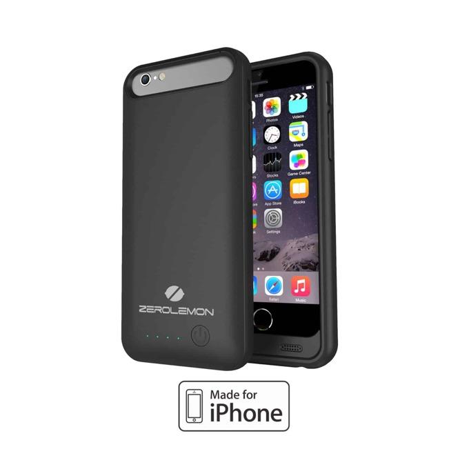 Протектор Zerolemon с батерия, MFi, за Apple iPhone 6, черен image