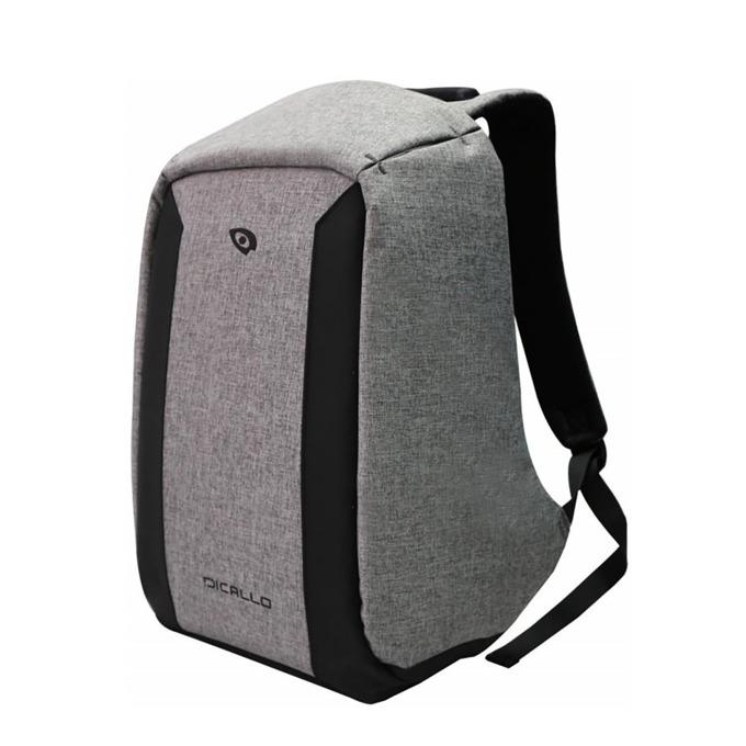 "Раница за лаптоп Dicallo LLB993015SL, до 15.6"" (39.60cm), сива-черна image"