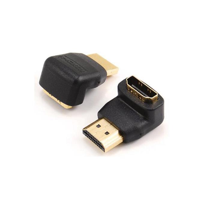 Преходник SBOX HDMIMF90, HDMI(м) към HDMI(ж), позлатени конектори, 90°, ъглов image